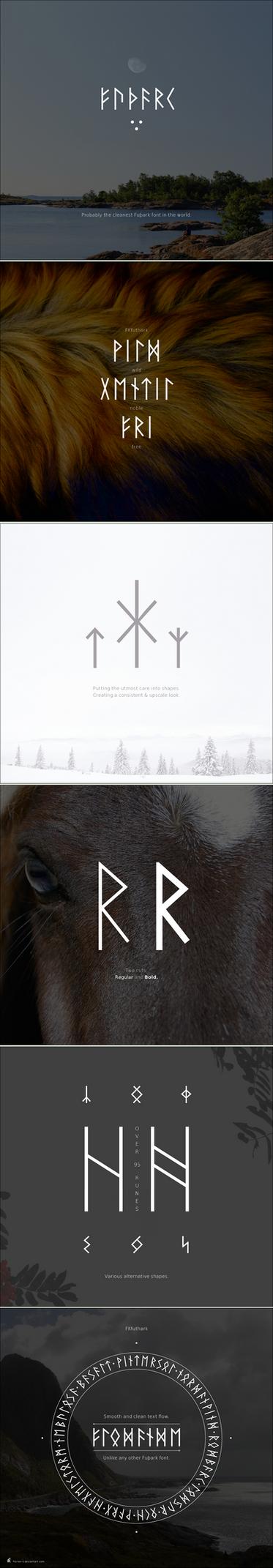 FKfuthark - new font specimen by Florian-K