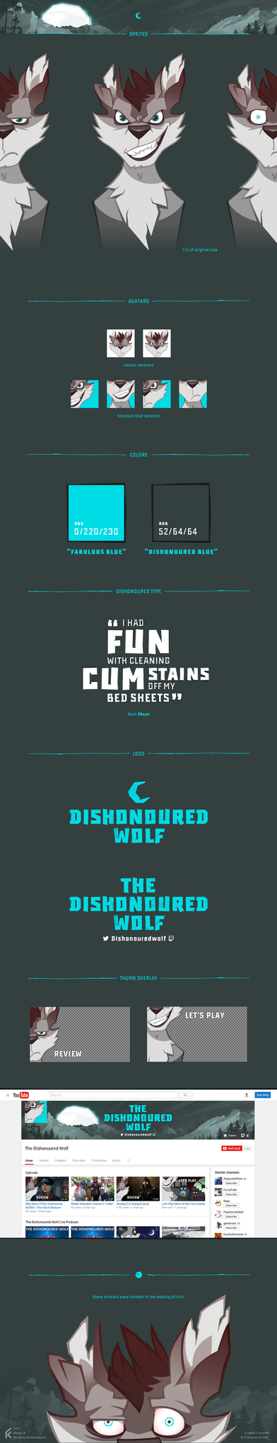 The Dishonoured Wolf: Channel Branding by Florian-K