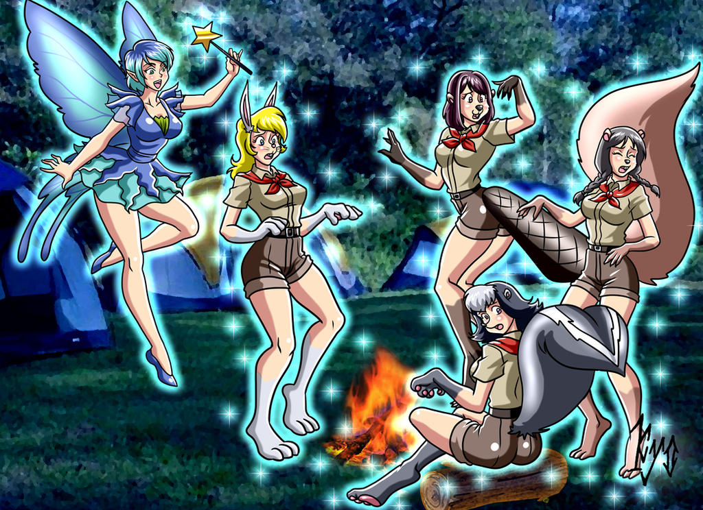 Kerri the Fairy meets some campers (Kyo) by macguffin78