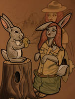 Bunny Charm (Bakerman) by macguffin78