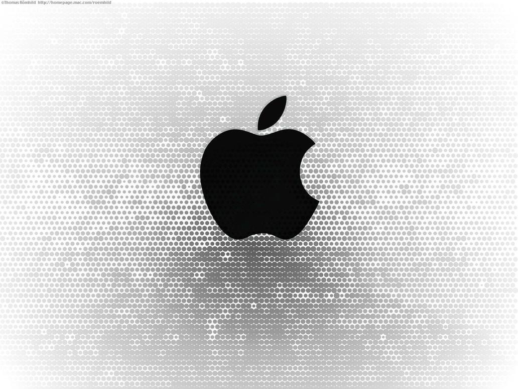black apple logo with dotsscreentom on deviantart