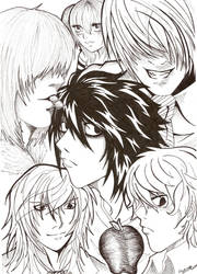 death Note... all together. by Blue-Fayt