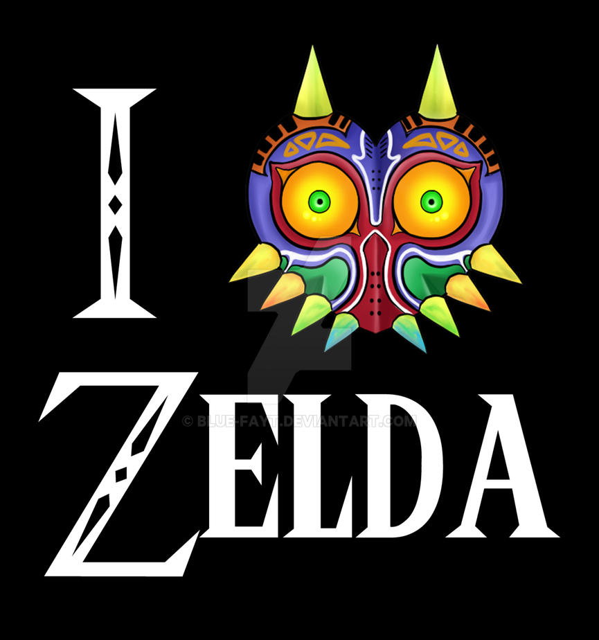 I Love Zelda T shirt design by Blue-Fayt