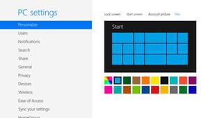 Windows 9 Personalize