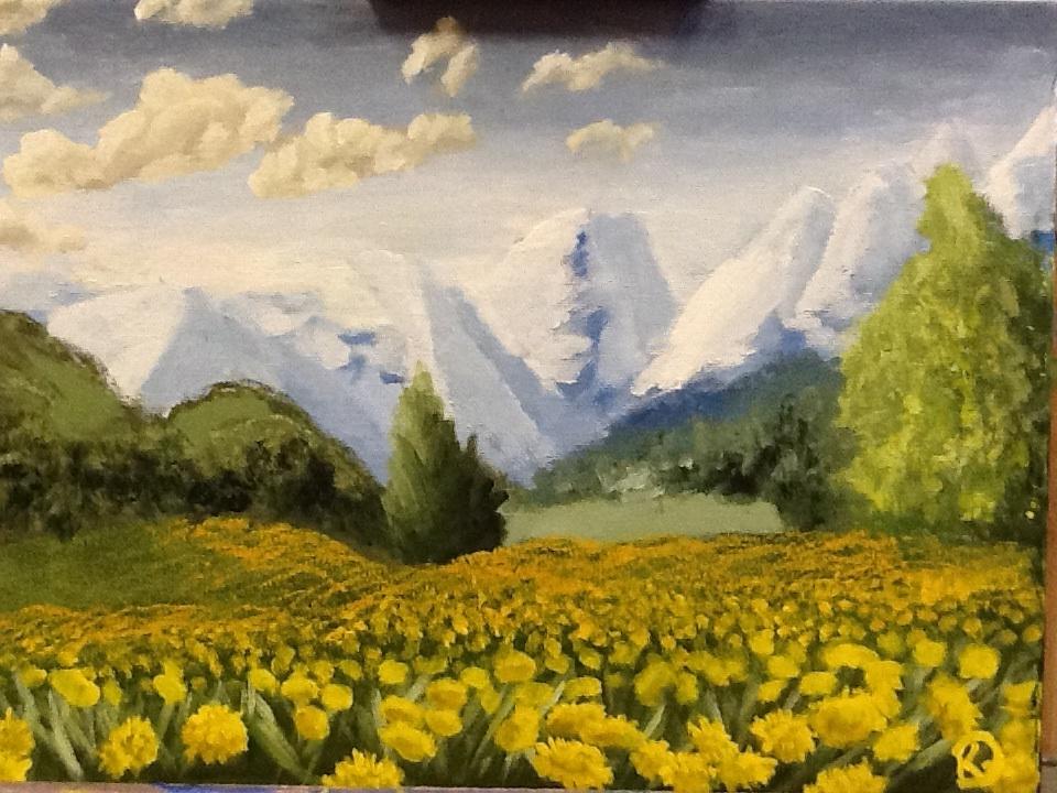 Dandelion Field by theoddlydifferentone