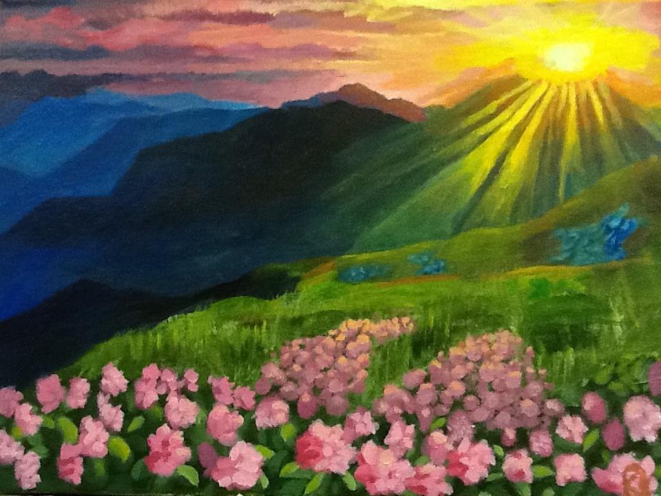 Mountain Sunset by theoddlydifferentone