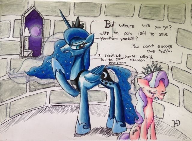 Luna visits Diamond Tiara's Dream by theoddlydifferentone