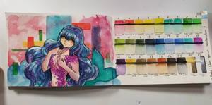 [ Watercolor ] Sketchbook daily   19   Mermay