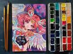 [ Watercolor ] Chibiusa by SilviaBC