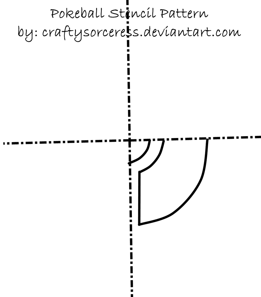Pokeball Stencil Pattern By Craftysorceress On Deviantart