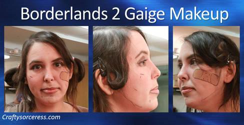 Borderlands 2 Gaige Makeup by craftysorceress