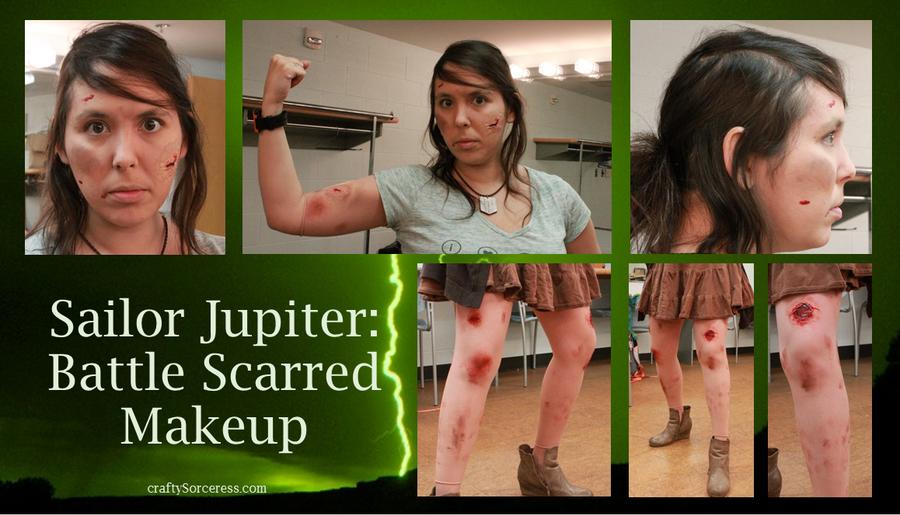 Sailor Jupiter-Battle Scarred Makeup by craftysorceress