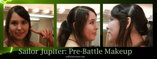 Sailor Jupiter-Battle Start Makeup by craftysorceress
