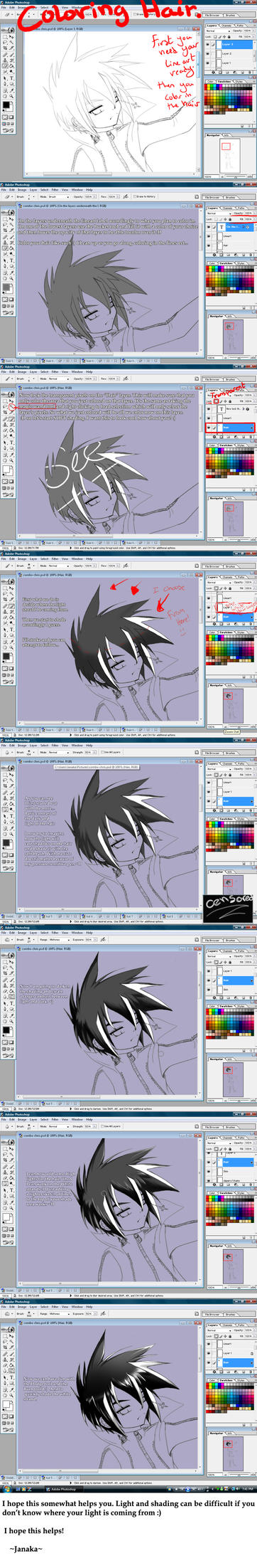 Tutorial : How to color Hair by DarkHalo4321