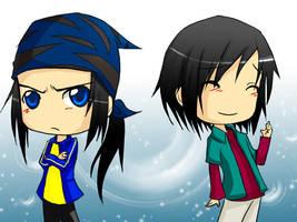 Digimon F: Them twins ya'll by DarkHalo4321