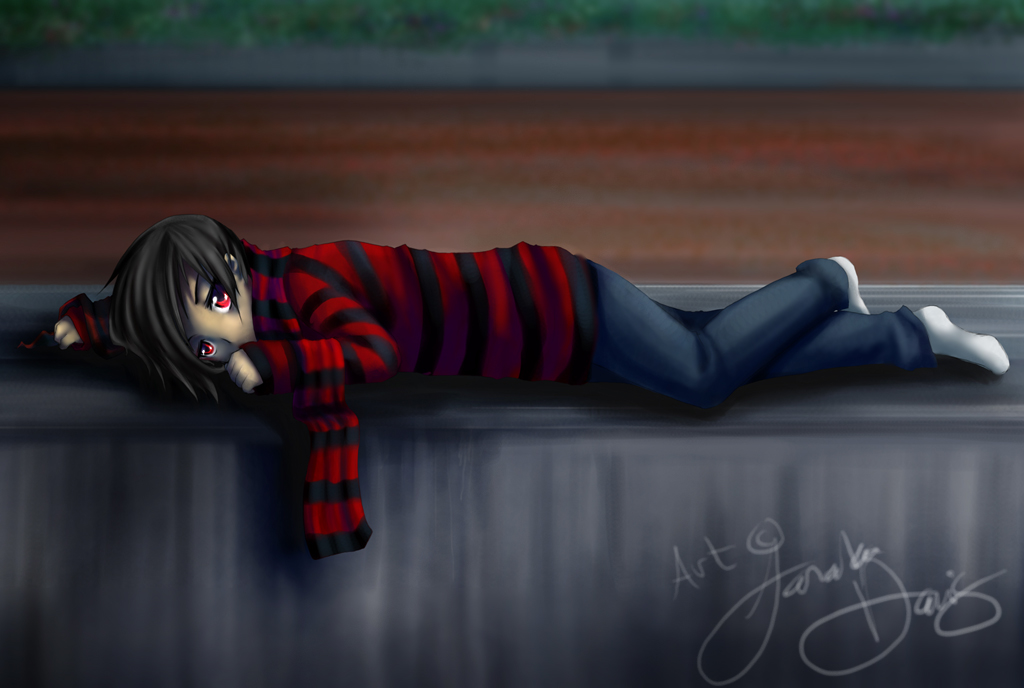 Lucius lying down in sadness by DarkHalo4321 on DeviantArt