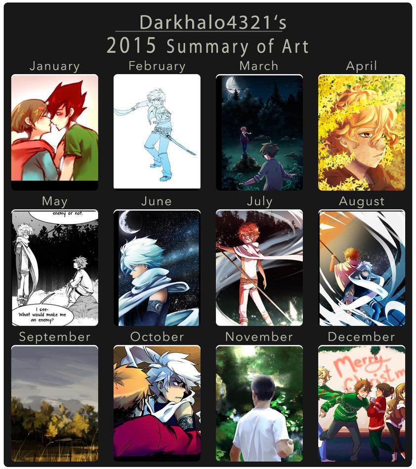 2015 Summary of Art by DarkHalo4321