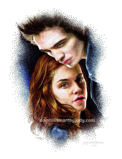 Bella and Edward  by Judydotqueen