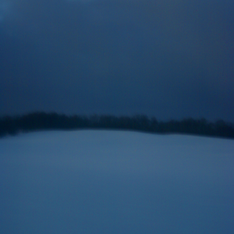Snowy Hill by Night by myrnajacobs