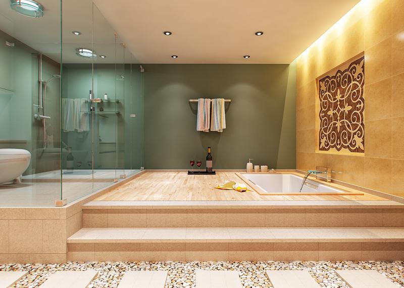 Ванные комнаты дизайн больших