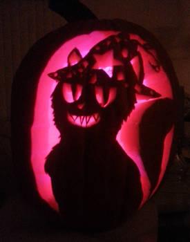 Witch Cat Sarah Pumpkin Carving