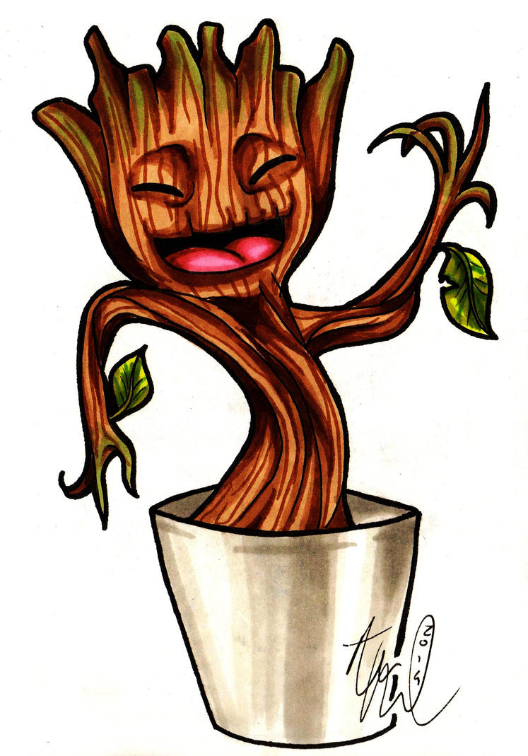 Baby Groot! by AbbieSTABBY