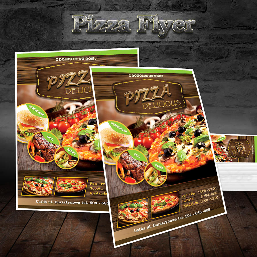 flyer pizza elegant pizza food by winiardesign on deviantart