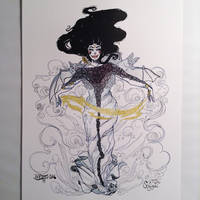 Inktober11 - Storm Witch