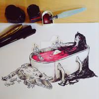 Inktober14 - Blood Witch