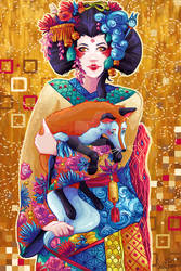 Geisha and Kitsune