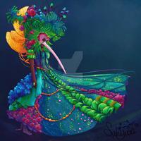 Lady bird at carnival