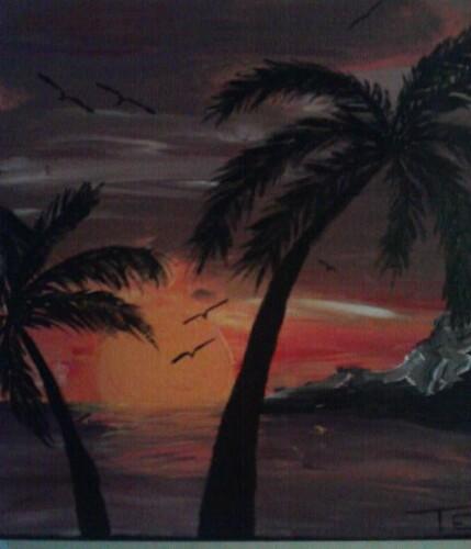 Beach Sunset by tstat0822