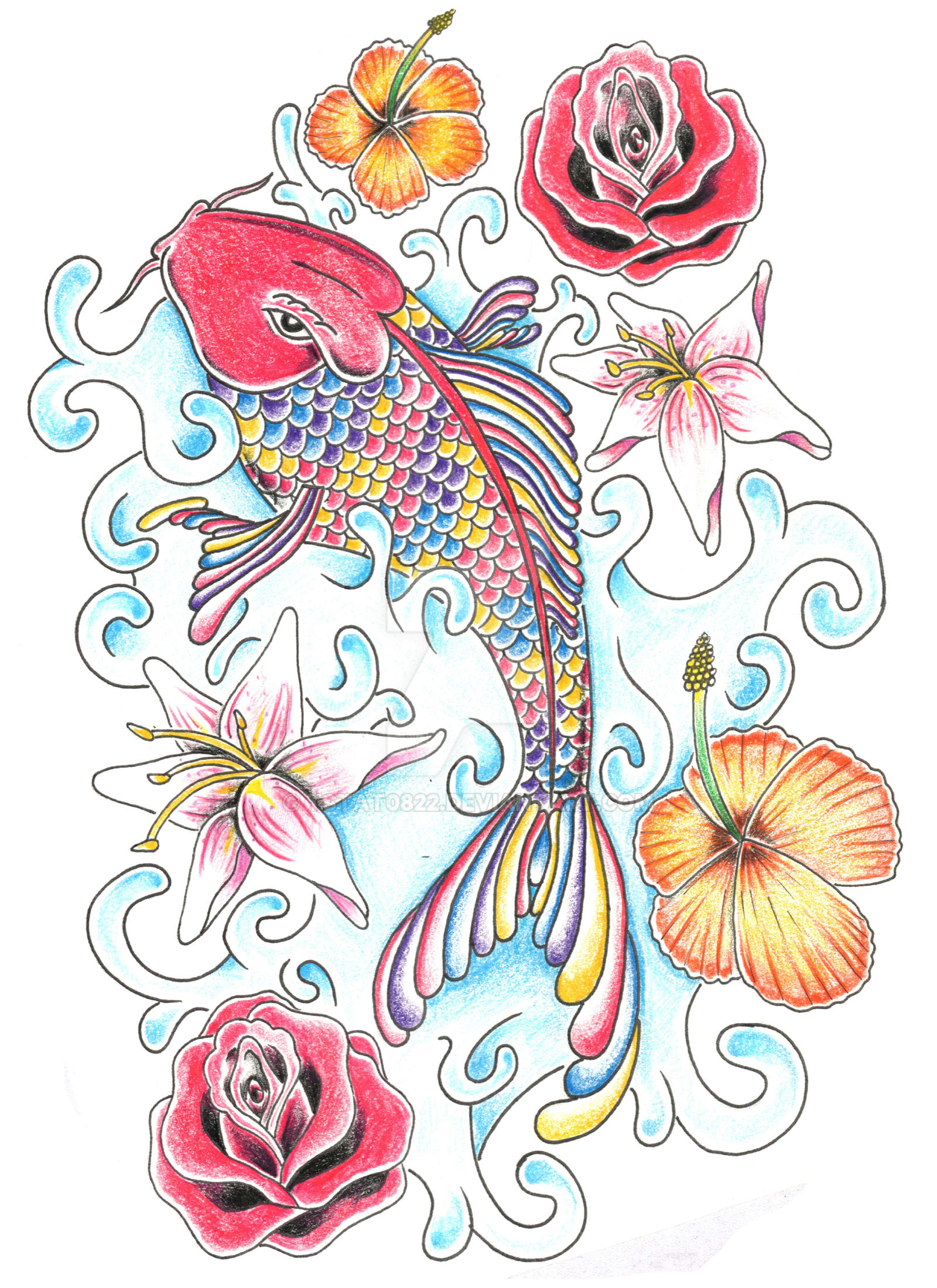 Rainbow koi fish by tstat0822 on deviantart for Rainbow koi fish