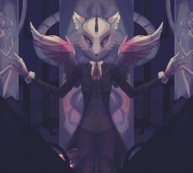 Unicorn Wolf by C2YPTIC