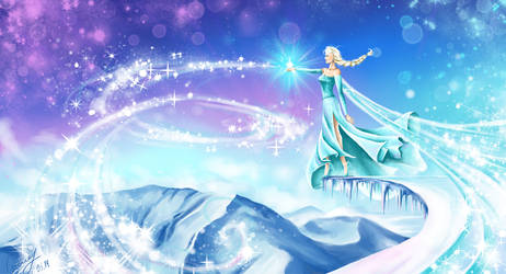 frozen. Elsa by vopoha