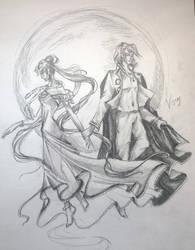 Diamond and Moon