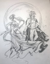 Diamond and Moon by vopoha