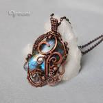 Wire wrapped Labradorite pendant