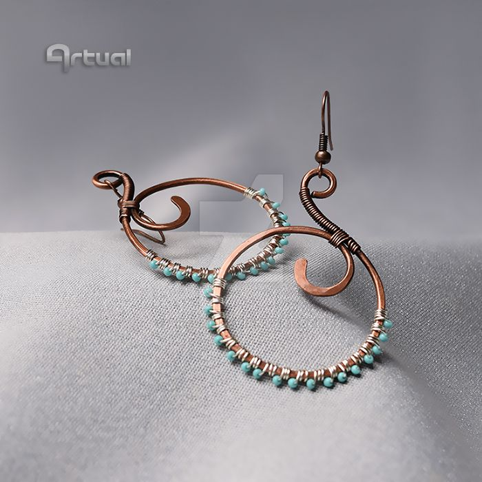Copper wire hoop earrings by artual on DeviantArt
