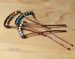 Copper hair pins