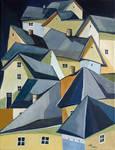 The sleeping city - oil on canvas