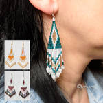 Colorful beaded earrings by artual