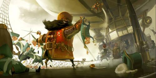 Blackbeard, Ahoy! by yakonusuke