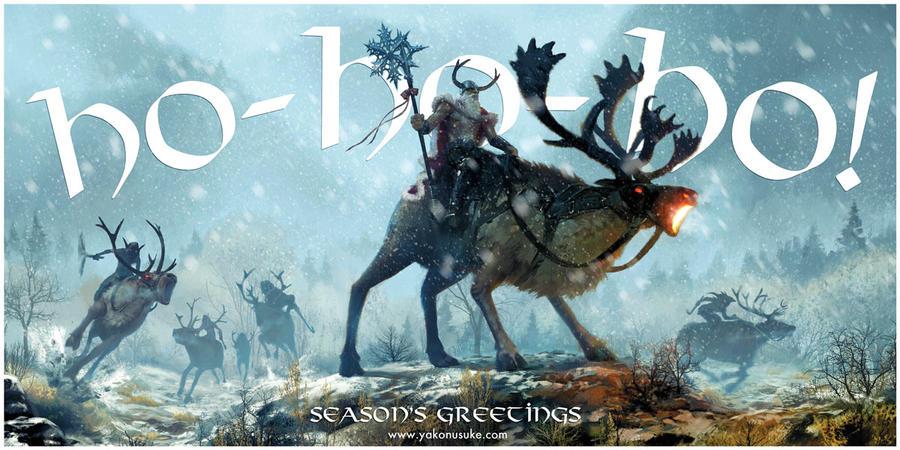 Viking Santa by yakonusuke