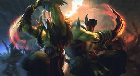 Dota 2: Juggernaut 'Dual Nature' by yakonusuke
