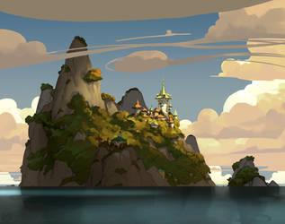 Island sketch by yakonusuke