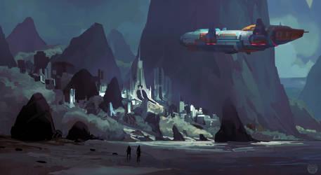 Scifi Environment by yakonusuke
