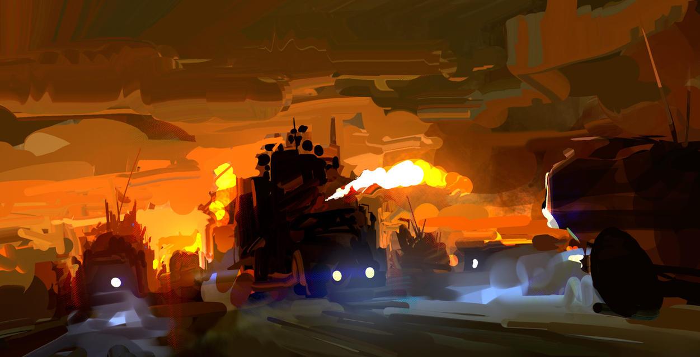 Mad Max Sketch by yakonusuke
