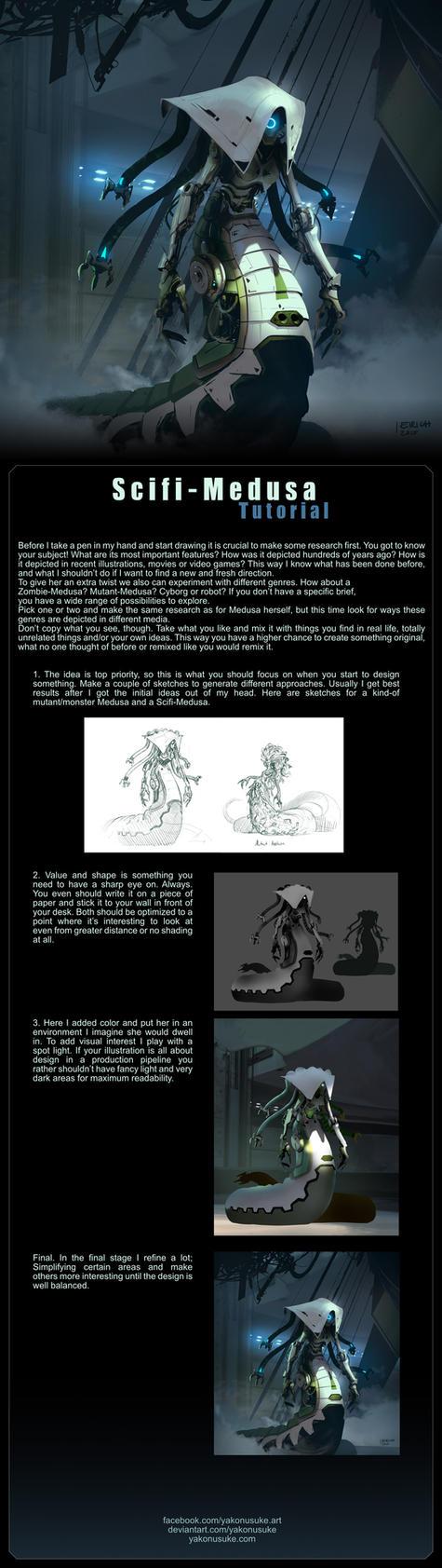 Scifi-Medusa Tutorial by yakonusuke
