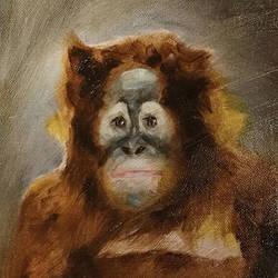 Oil painting - Monkey by yakonusuke